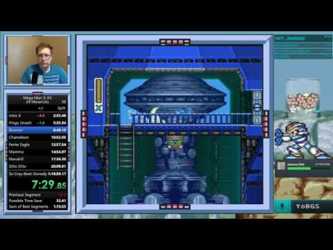 (New PB) Mega Man X, X2, X3 24-Maverick Run in 1:18:13.99