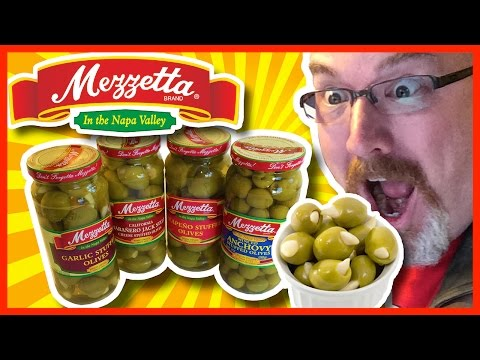Mezzetta Olive Review - Anchovy Stuffed, Garlic, Habanero Cheese, Jalapeño