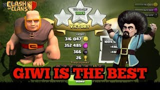 TH 7 & TH 8 STRATEGY (WAR OR FARMING) GIWI (GIANT WIZARD) CLASH OF CLANS INDONESIA GAMEPLAY#1