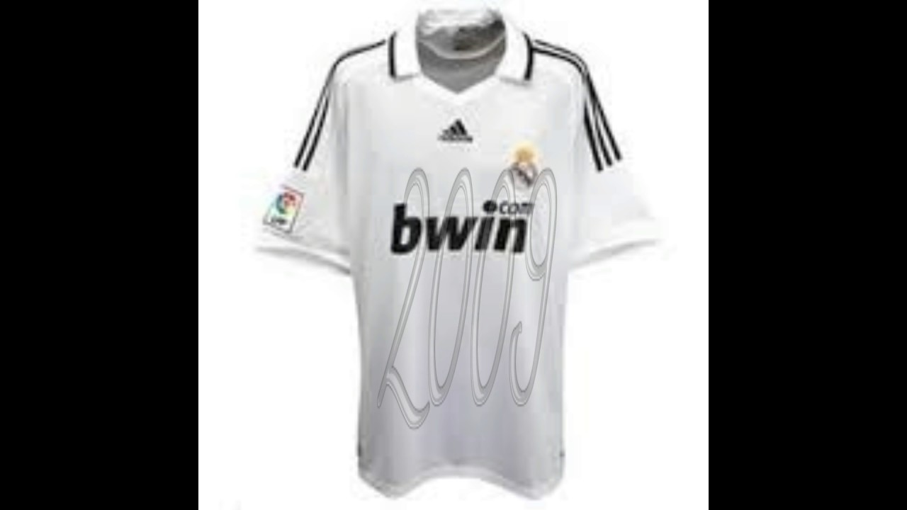 5c0caab671d Real Madrid shirt evolution 1999 - 2017 - YouTube