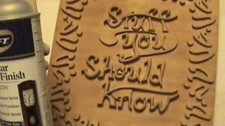 How to carve a relief style plaque