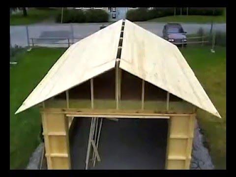 видео: Как построить каркасный гараж своими руками