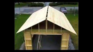 Как построить каркасный гараж своими руками