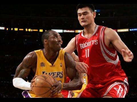 Kobe Bryant VS Yao Ming  Kobe 53, Yao 35  12.15.06