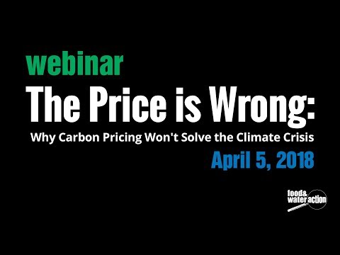The Price is Wrong: Why Carbon Pricing Won't Solve the Climate Crisis Webinar