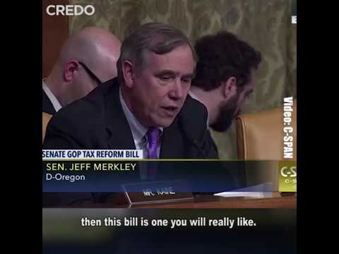 "Sen. Merkley shreds the Trump tax scam: ""This is the art of the steal."""