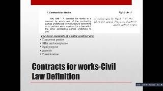 Contracts definition and elements