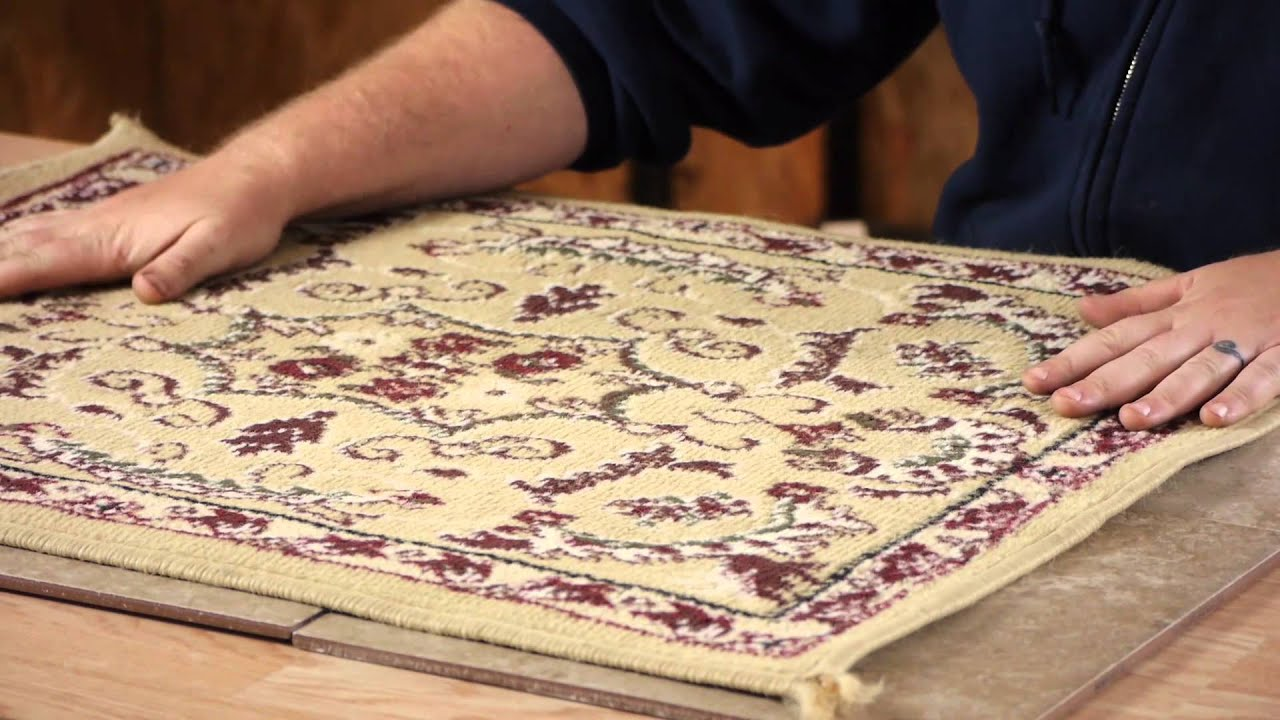 How to Make a Throw Rug Stick to Ceramic Tile : Carpet ...