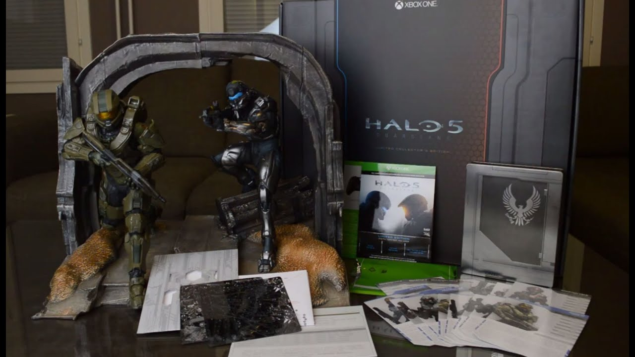 Unboxing halo 5 guardians limited collector s edition youtube