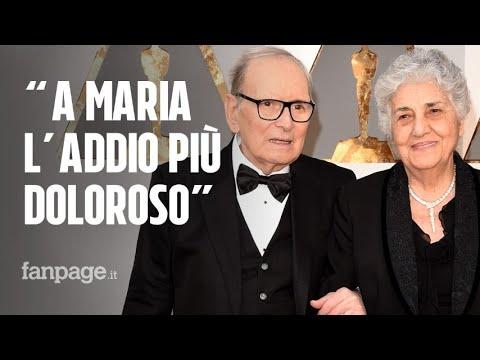 """Ennio Morricone, il suo necrologio: """"Vado via senza disturbare. A Maria l'addio più doloroso"""""""