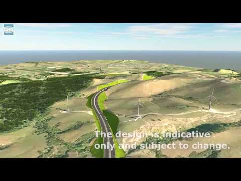 Te Ahu a Turanga: Manawatū Gorge replacement route animated flythrough