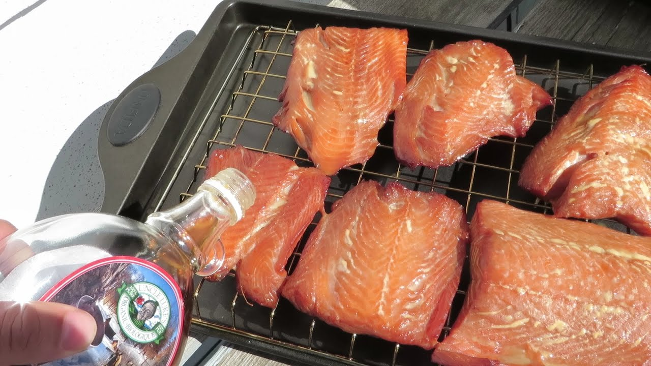 How To Make Smoked Salmon  With Brown Sugar And Maple Syrop