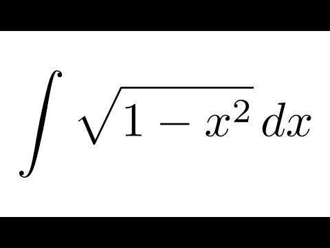 Integral of sqrt(1-x^2) (substitution + trigonometric identities)