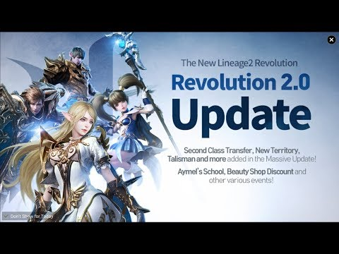 Lineage 2 Revolution 2.0 Update & 2nd Class Quest Live