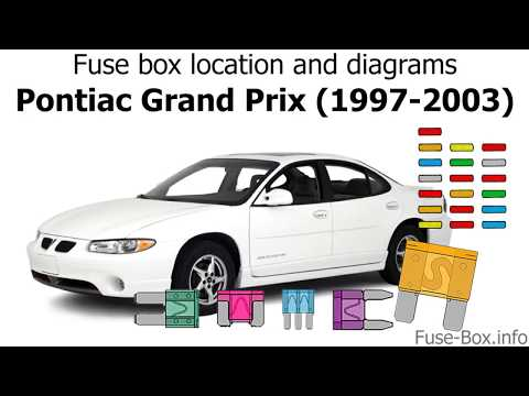 2000 gtp fuse box diagrams fuse box location and diagrams pontiac grand prix  1997 2003  fuse box location and diagrams pontiac