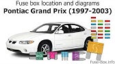 Fuse Box Location And Diagrams Pontiac Grand Am 1999 2005 Youtube