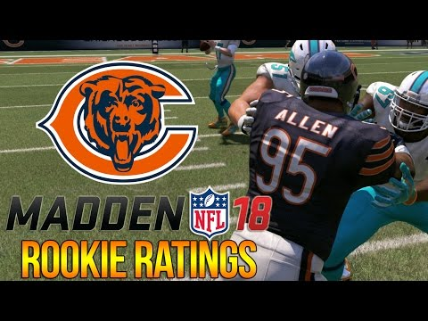 Madden 18 Rookie Ratings | Jonathan Allen, Teez Tabor + Zay Jones | Chicago Bears | C4