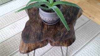 Rustic Live Edge End Table By Mccue Brothers