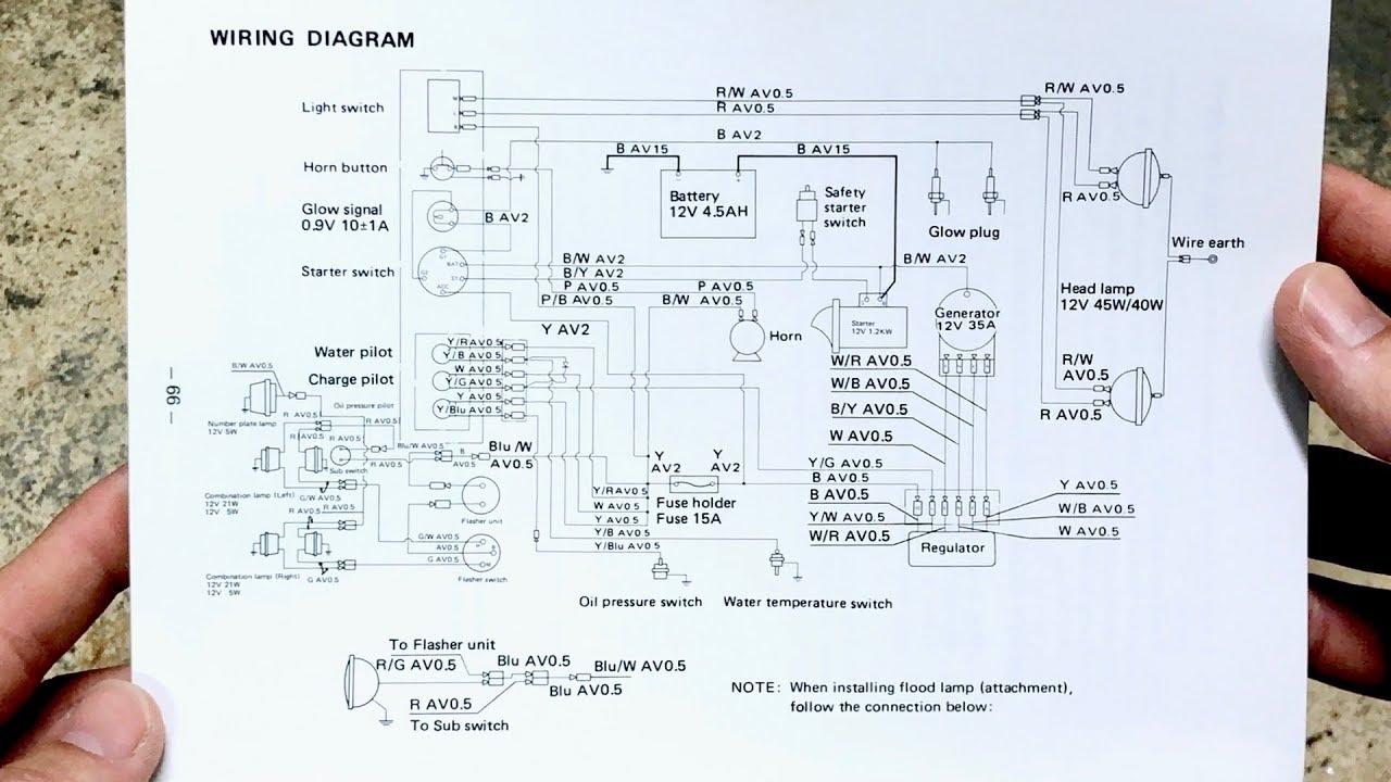 wiring diagram for mitsubishi mt372 diesel mini tractor youtubewiring diagram for mitsubishi mt372 diesel mini tractor [ 1280 x 720 Pixel ]