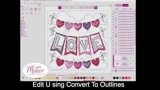Embellish Maker: Edit using convert to outlines