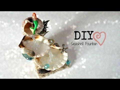 DIY Seashell Fountain // Room Decor ♥