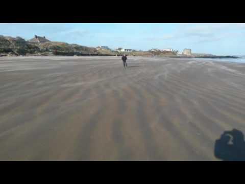 Wind and Joe on Donabate Beach Dublin 2015