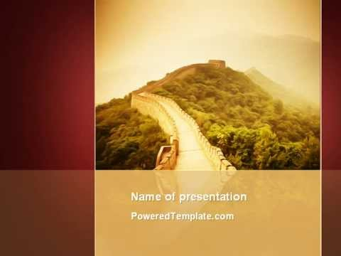 Great Chinese Wall Powerpoint Template By Poweredtemplate Youtube
