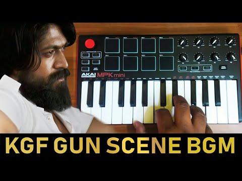 KGF GUN SCENE BGM    Cover By Raj Bharath   #Yash #Ravibasur  