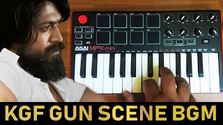 KGF GUN SCENE BGM  | Cover By Raj Bharath | #Yash #Ravibasur |