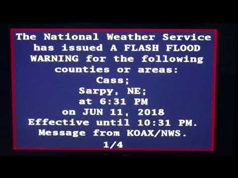 Flash Flood Warning Emergency Alert - Omaha, Nebraska Area