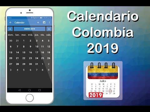 Gadget Calendario.App Calendario 2019 Colombia