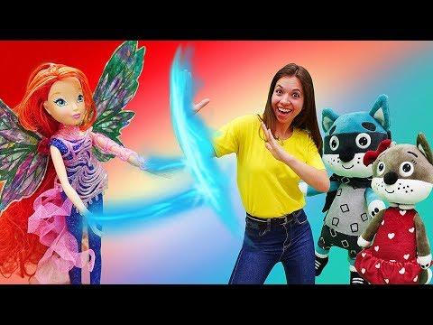 Видео МНОГО ИГРУШЕК. Куклы Винкс ( Winx ) и котики устроили чаепитие, чтобы игрушки не болели!