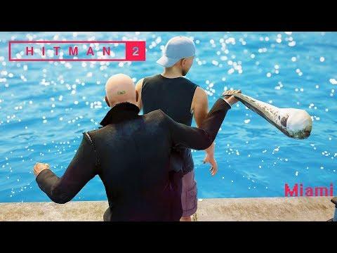 HITMAN 2 - Funny/Brutal Kills Montage | MIAMI #2