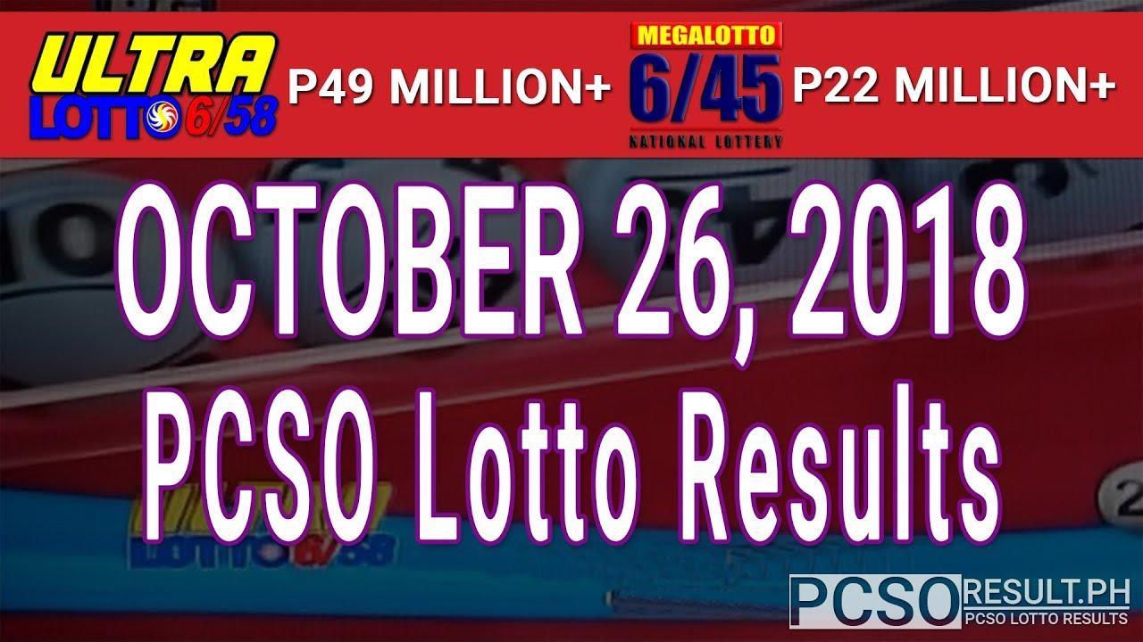 sa lotto results 26 october 2018