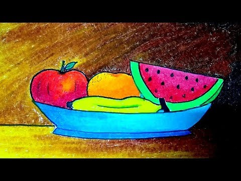 How To Draw A Fruit Basket Step By Step