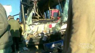 حادث حافلة الطلبة طولقة