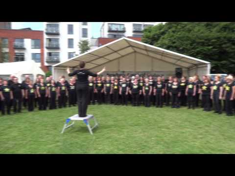 Newbury and Thatcham Rock Choir at  Newbury Carnival 2015