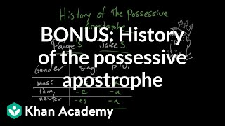 BONUS: History of the possessive apostrophe | The Apostrophe | Punctuation | Khan Academy