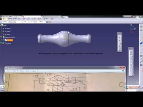 Catia V5 Tutorials|2d to 3d Project Study|How to Create Tap Handle|Part 2