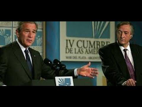 Néstor Kirchner en el No al ALCA en Mar del Plata