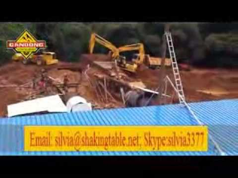 Ghana Alluvial Gold Mining Working Site With Rotary Scrubber And Shaking Table