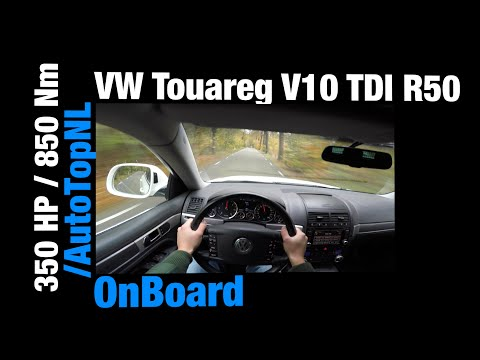POV: VW Touareg 5.0 V10 TDI Acceleration R50 GREAT! OnBoard