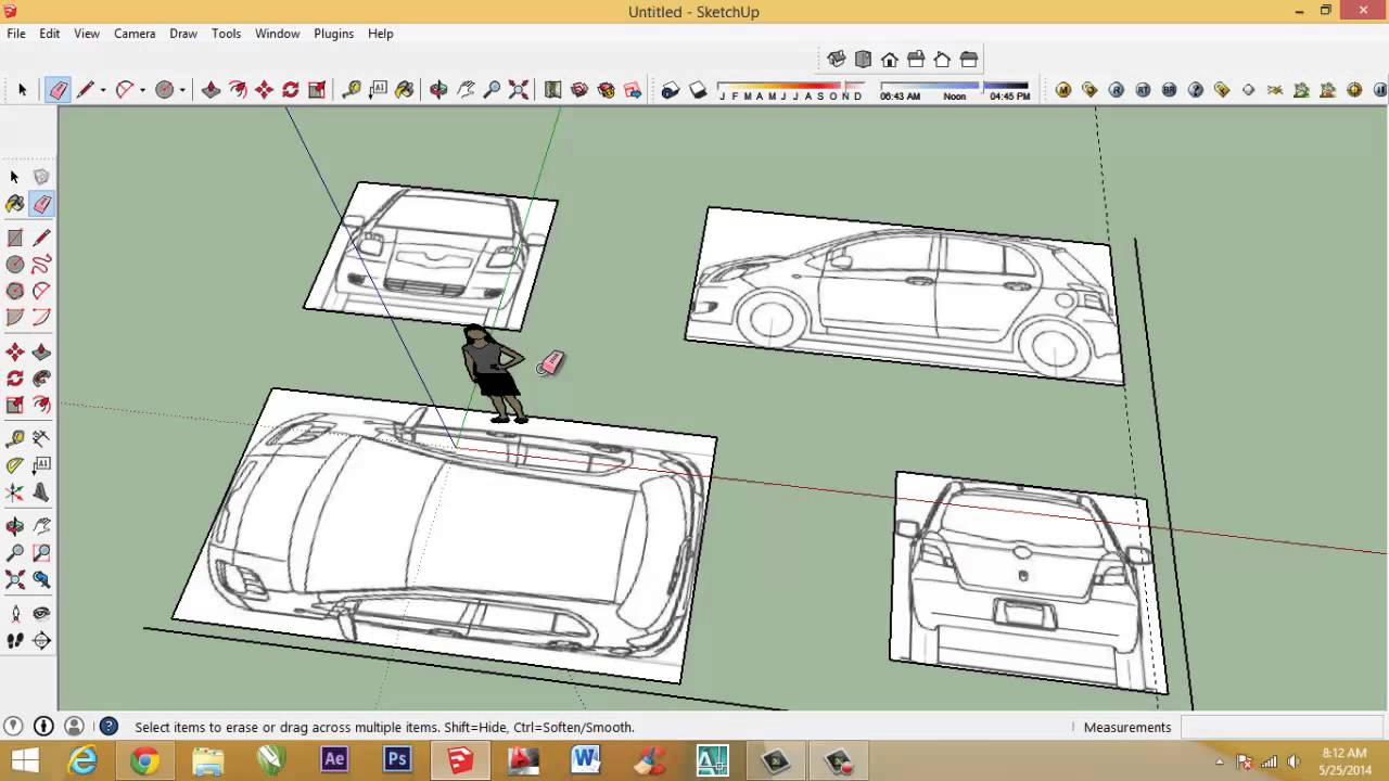 How To Make Car With Sketchup Setting Car Blueprint