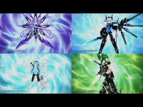 Megadimension Neptunia VII | Next Form Transformations - YouTube