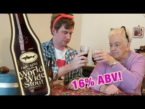 Grandma Tries Dogfish Head World Wide Stout - Episode 24 Hoppier Days