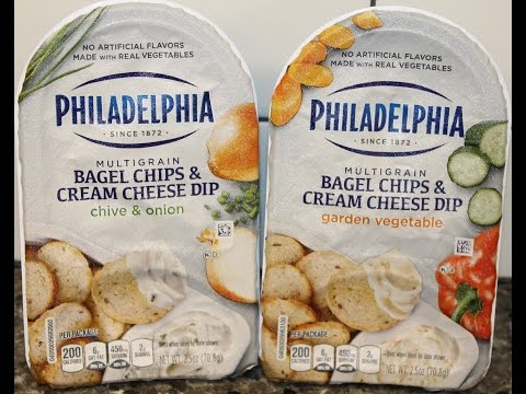 Philadelphia Bagel Chips & Cream Cheese Dip: Chive & Onion and Garden Vegetable Review