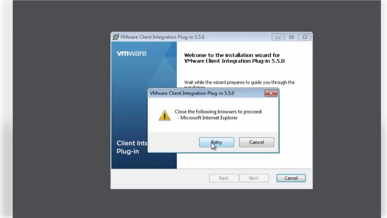 Installing the vSphere 5 5 Client Integration Plug-In