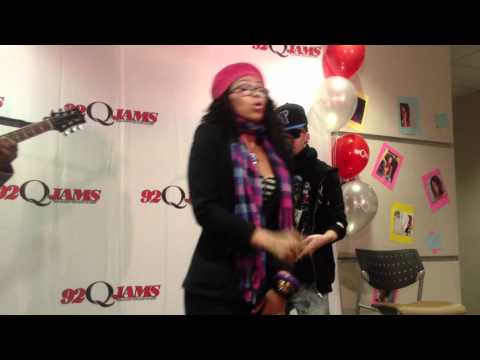 Elle Varner Performing 'Only Wanna Give it to You' Live @ 92Q Meet & Greet