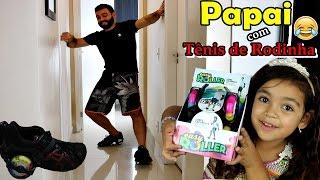 PAPAI ANDANDO DE TÊNIS DE RODINHA - TÊNIS DE RODINHA COM LED - EASY ROLLER - #VEDA21