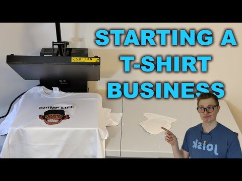Ep. 1 - How To Start A T-Shirt Business - Learning How To Heat Press Shirts
